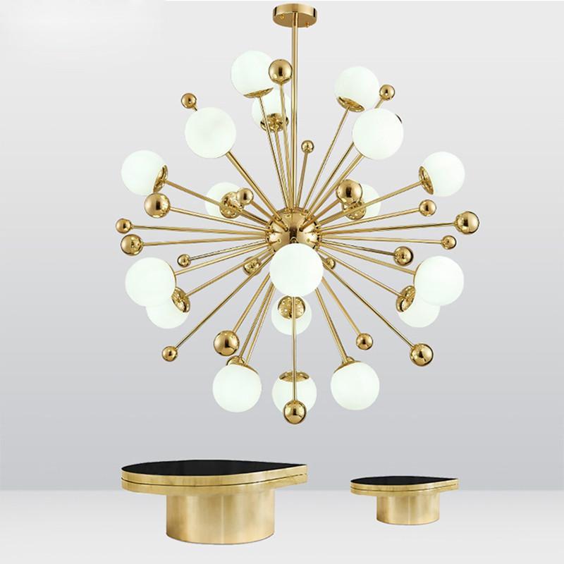 Chispa de oro moderna lámpara de cristal que cuelga la lámpara pendiente Sala Comedor Dormitorio Junto techo accesorio ligero PA0059