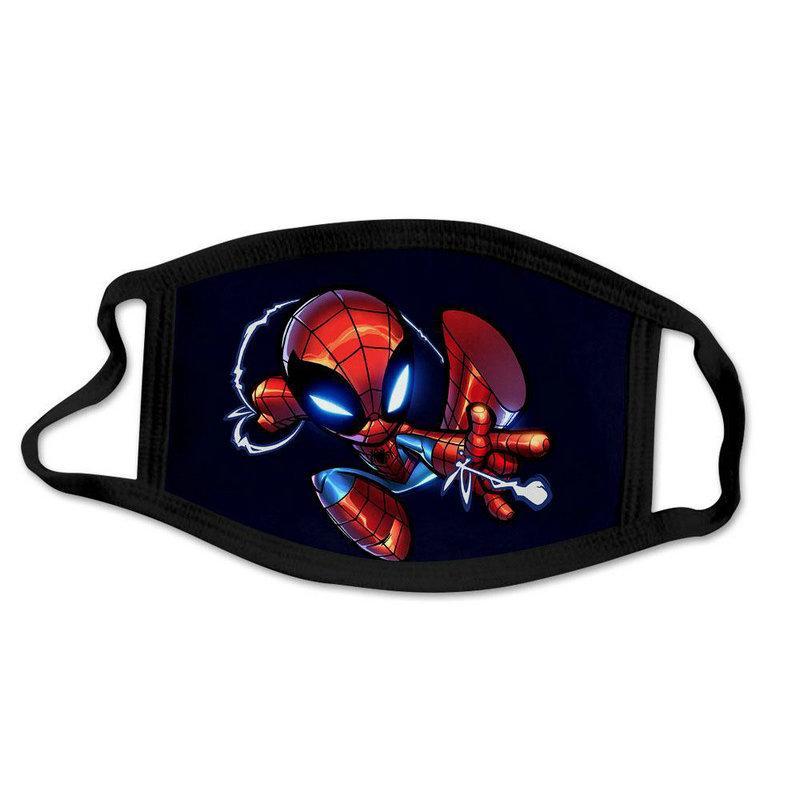 Mode Spider-Man Spiderman Superheld Designer Luxus-Kind-Gesichtsmaske Partei Cosplay wiederverwendbarer Staub waschbar Winddichtes Kind-Baumwoll DXhsX