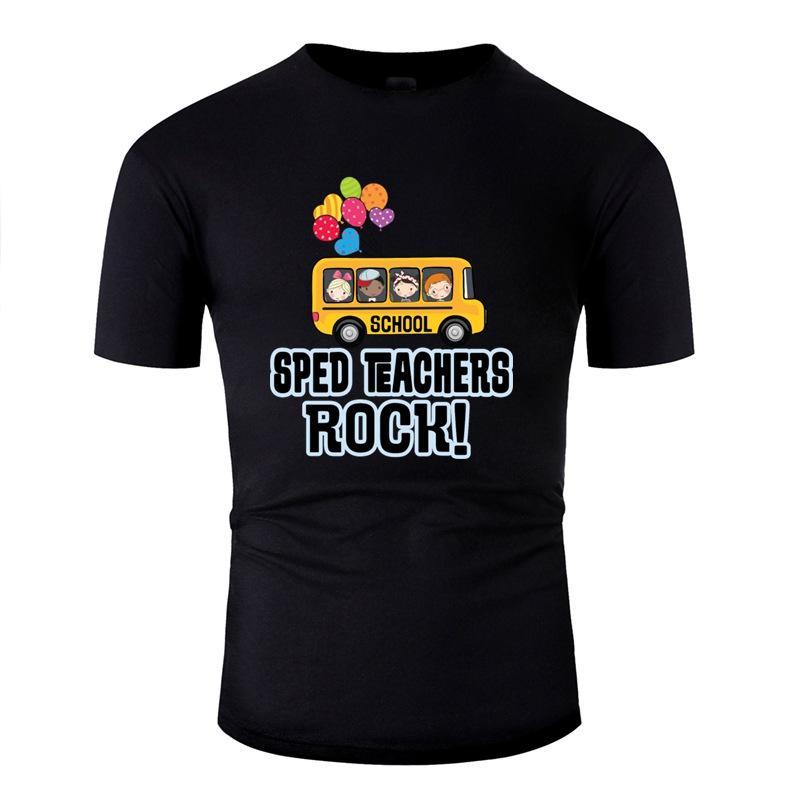 Erkekler Harf Men and Women T Shirt için Vintage Sped Öğretmenler Kaya Tişörtlü Klasik 2020 Kısa Kol Camisetas
