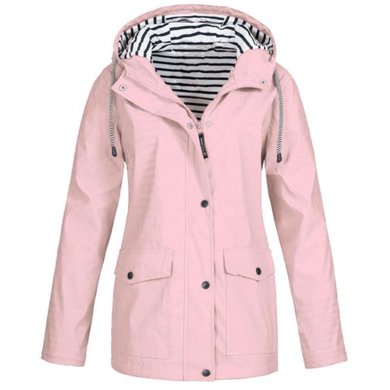 Damen-Jacken Winter-Mantel-Jacken-Frauen-feste Regen Jacke Outdoor-Plus-Wasserdicht mit Kapuze Regenmantel Windbreaker Leichte