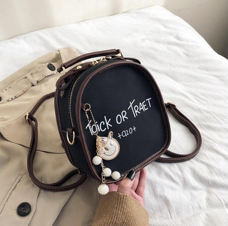2019 nuevo de alta calidad de manera simple versátil bolsa de cuero mini-cross body un hombro mochila mochila de estilo linda