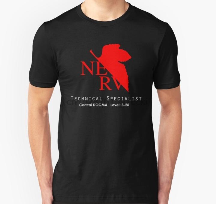 Gli uomini della maglietta Evangelion Technical Specialist unisex T shirt stampata T-Shirt T top