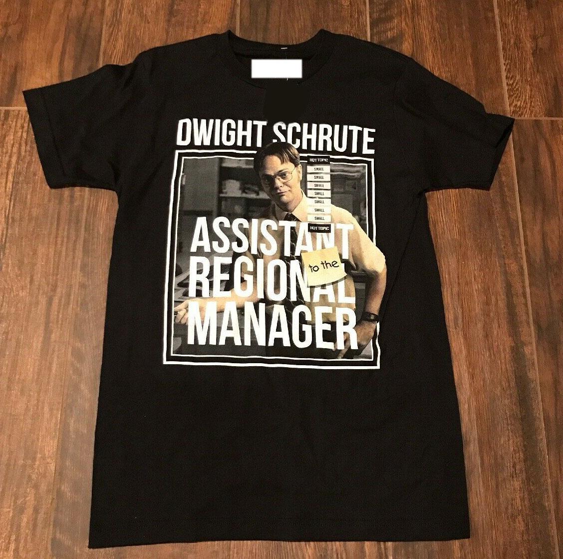 The Office, Dwight Schrute, assistente do gerente regional t-shirt S-5XL mais novo 2020 Homens T-shirt Moda Top Tee PLUS SIZE
