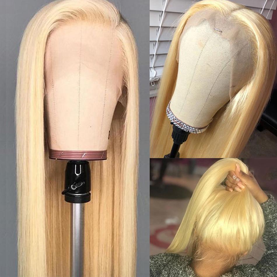Miele pizzo Biondo anteriore parrucche Etero 13x4 merletto della parte anteriore dei capelli umani parrucca di Remy peruviano Frontal del merletto parrucche 150%