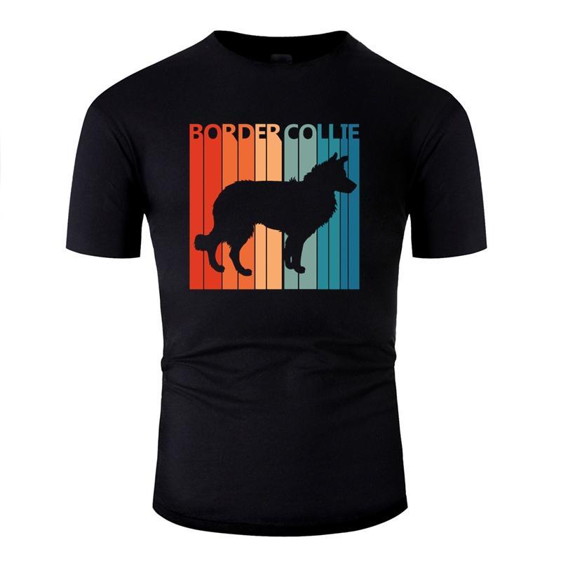 Lema Border Collie camiseta para los hombres Hombres Carta gráfico t camisas O del color sólido 2020 del tamaño grande 3XL 4XL 5XL
