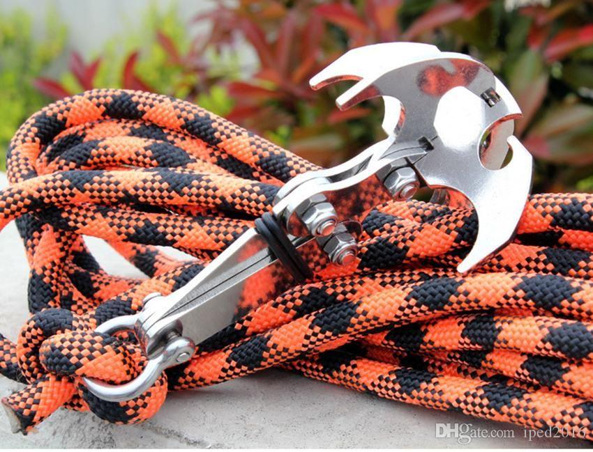 herramientas de escalada gancho garra camping Grappling Hook gravedad de acero inoxidable supervivencia garfios mosquetón plegable al aire libre Sin Cuerda