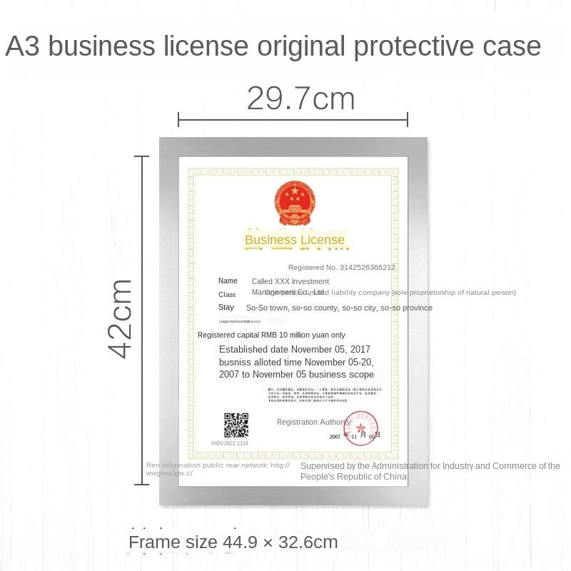 mtju4 business license frame wall hanging food hygiene license industrial and commercial three in one a3 protective cover original protectiv black leather wallet luxury wallets from hungrydhgate 18 28 dhgate com dhgate com