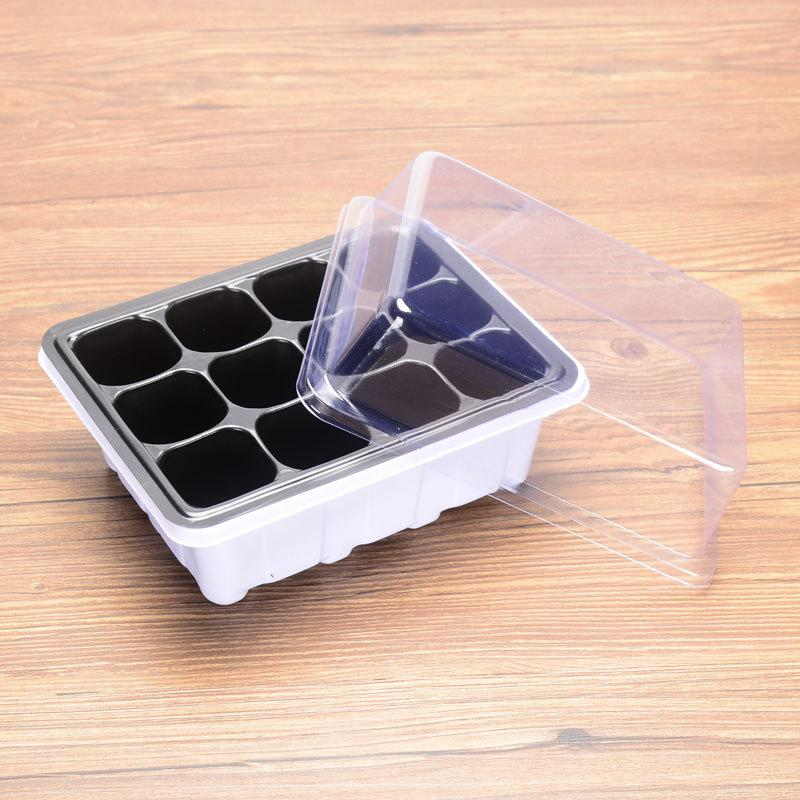 boîte de semis en plastique trois pièces ensemble de la feuille de semis charnue insert conservation de la chaleur boîte et hydratante boîte semis