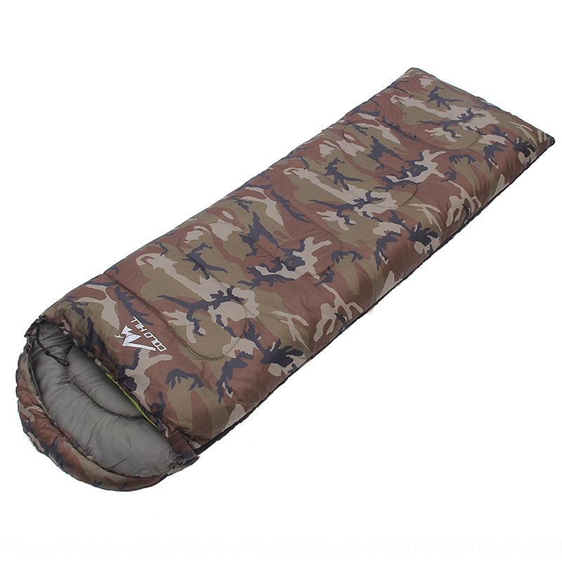 envolvente frío polar de la montaña con el saco de dormir sombrero al aire libre del almuerzo acampar ocio ruptura de camuflaje saco de dormir para adultos