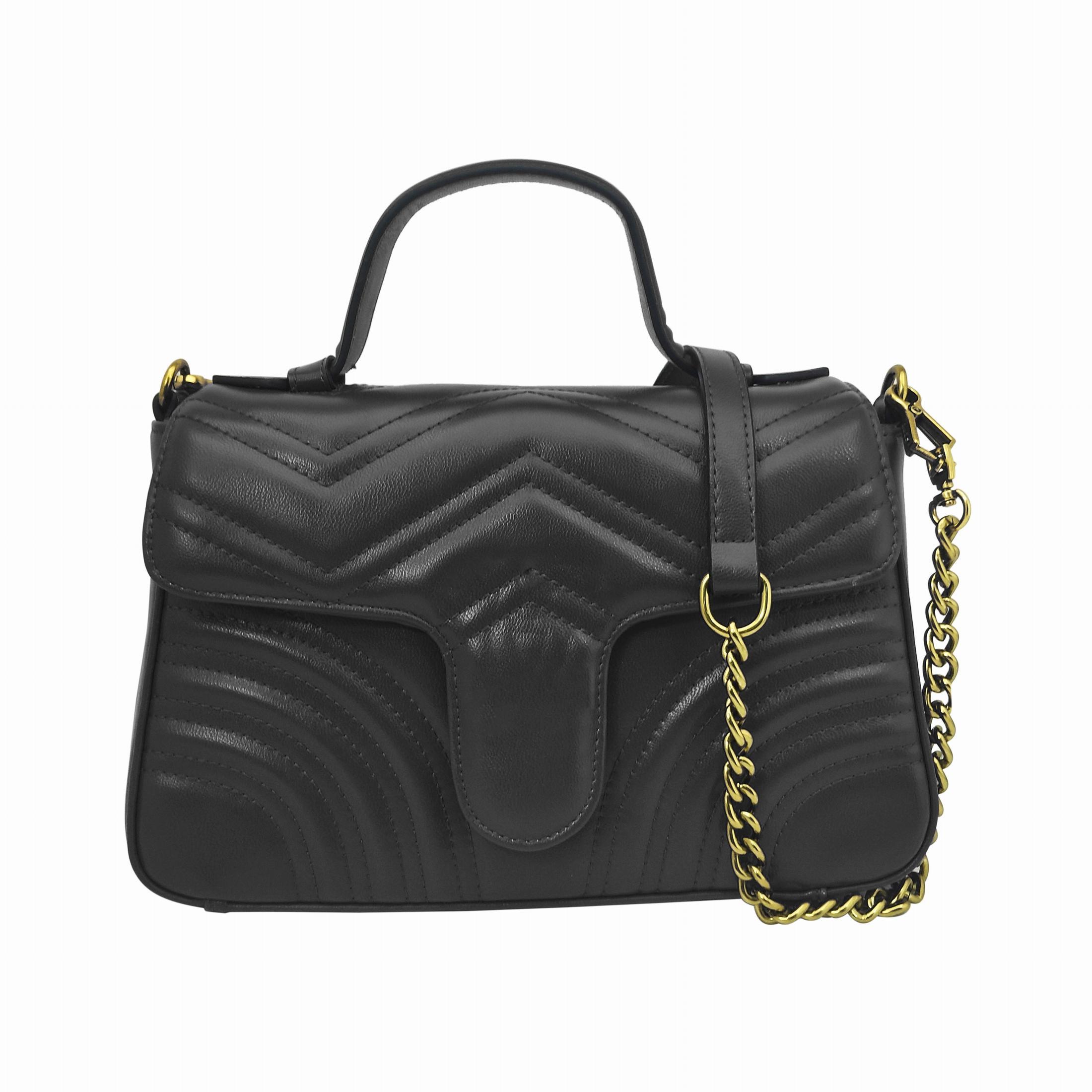 Nouvelle mode classique sac à main de femmes sacs à bandoulière chaîne amovible en PU Fabriqué avec un cœur chevron sur le dos 498110 quatre couleurs