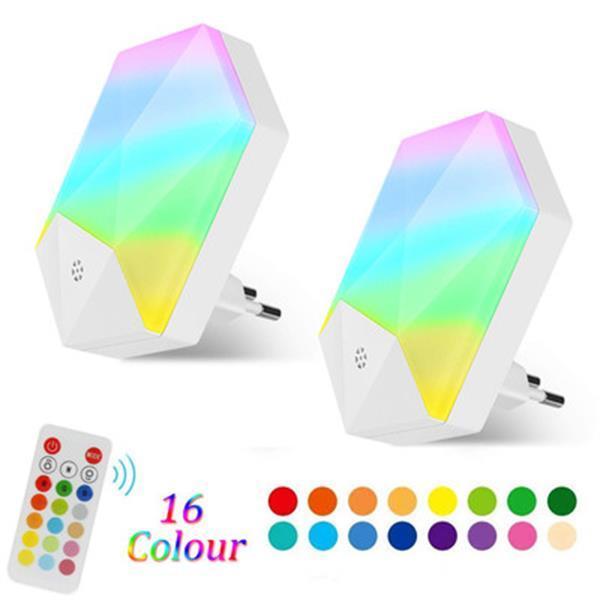 Nueva RGB noche control remoto se enciende 16 colores inteligente regulable bebé gradiente de lámpara del sitio de lámpara de ambiente nocturno de la novedad de iluminación