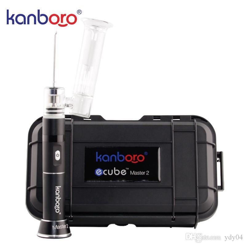 KANBOO ORIGINALE KANBOO ECUUBE MASTER PORTATE PUBBLICE DAB RIG VAPorizer Kit per la penna vape cera con display a LED tubo di vetro e cigs vapori
