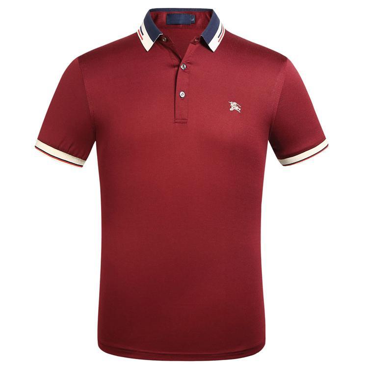 FF primavera e l'estate modelli popolari ricamo cotone a maniche corte t-shirt originale bavero della camicia di polo di polo progettista della camicia maschile degli uomini