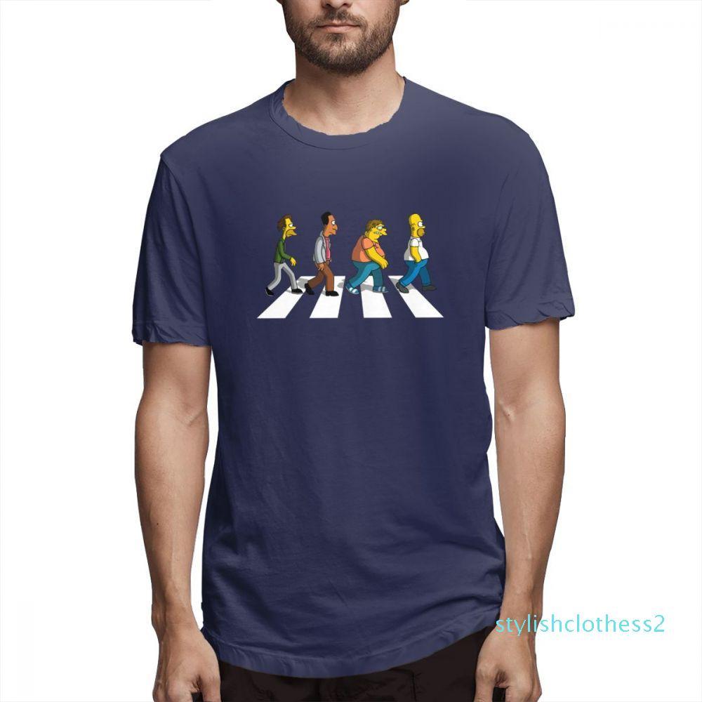 Les Simpsons Designer Fashion Shirts Hommes chemise manches courtes Les Simpsons T-shirts imprimés causales Hommes Hauts coton c5307s02