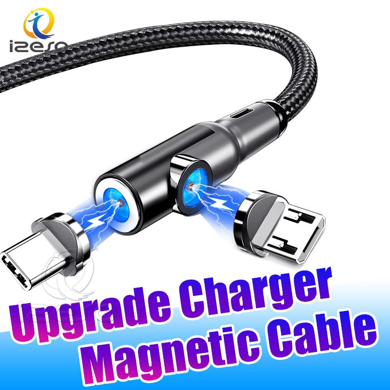 2.4A Magnetic Charger Micro USB Cable Fast Charging Wire Cord New Upgrade USB Magnetic Type C Cable for MOTO G Stylus izeso
