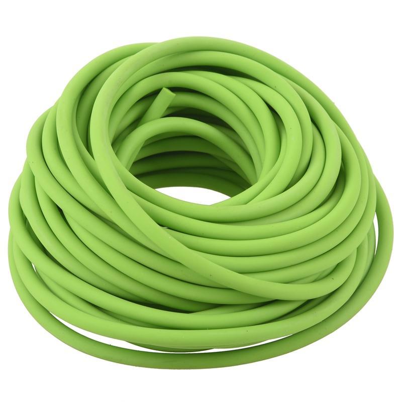 Tubes en caoutchouc exercice Bande de résistance Catapult Dub Slingshot élastique, 10M vert
