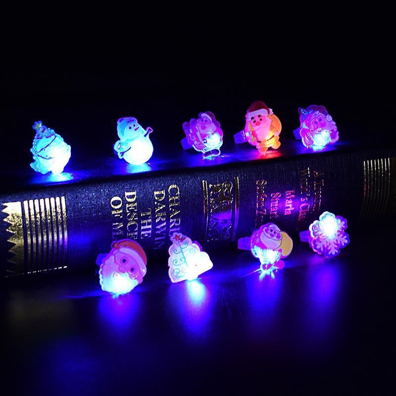 LED-Blitze leuchten Glowing Finger-Ring Elektronischen Weihnachten Halloween Baby-Spaß-Spielzeug-Partei-Geschenke für Kinder
