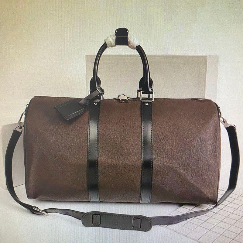 Luxurys Designer-Duffel-Taschen tragen auf Alle Bandouliere 55 50 45 cm Frauen Reisetasche Mode Männer Klassischer Leder Sport Outdoor Packs Weichseitig Koffer Gepäcksatz