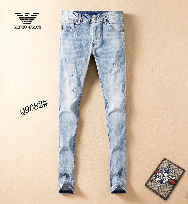 giysi tasarımcısı pantolon slp mavi siyah tahrip erkek Temsil ince kot düz motorcu sıska kot Men Jeans ~~ H103 yırtık