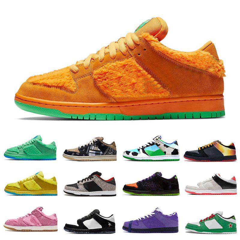 Stock X Nike SB DUNK Ben & Jerry's X Chunky Dunky Dunk Low Mens sports designer sneakers dunks Panda Pigeon Safari Tie-Dye Infrared Shadow University red women men Casual shoes