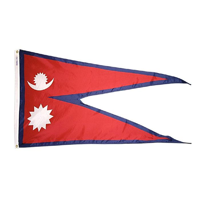 Nepal Flag High Quality 3x5 FT National Banner 90x150cm Festival Party Gift 100D Polyester Indoor Outdoor Printed Flags and Banners