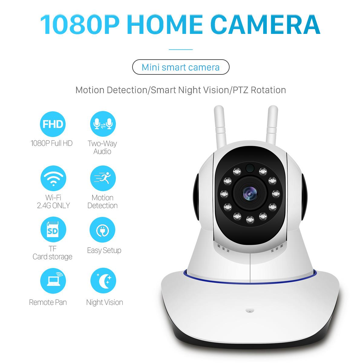 wireless 1080P HD ip camera wifi 802.11b / g P2P network infrared indoor security with alarm sensor