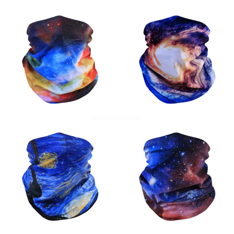 Звездное небо Велоспорт шарф печати Hairband Бандана оголовье Открытый Face Шарф Легкая дышащая мягкая Магия банданы Headwear K951-2 # 268