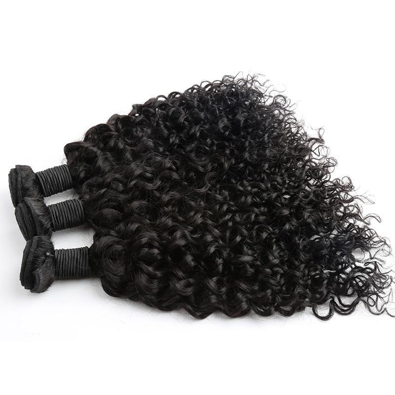 "Greatremy 100%マレーシア人間の髪の毛織り二重緯糸延長8 ""~30""未処理のレミーヘア自然色染め可能な3pcsカーリーウェーブ"