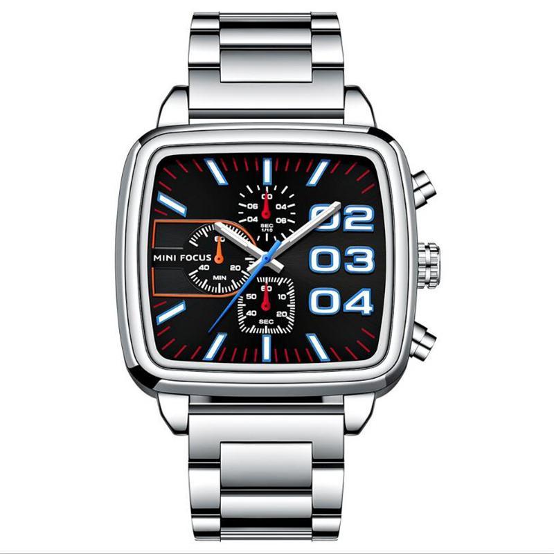 Temps spécial 2021 Nouvelle montre pour hommes Casual Quartz Sports Sports Bracelet de marque Chronographe Chronographe Inox Halle Clock Relojes