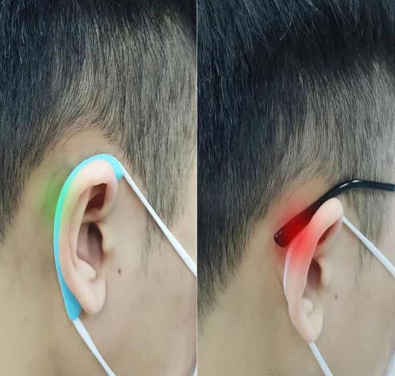 Máscara de silicona suave gancho del oído El dolor invisible orejeras de la protección auditiva del oído Artefacto prevención de epidemias Suministros NzDdD E2008