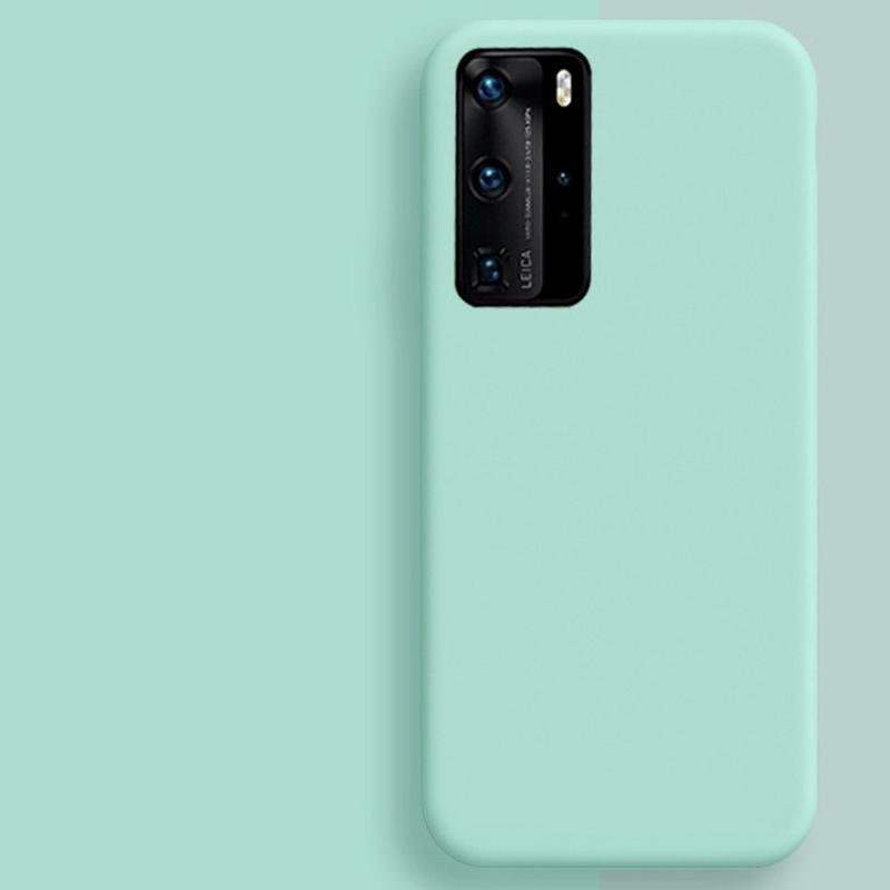Líquido casos de silicona para Samsung Galaxy S8 S9 S10 Nota 8 9 10 s20 Plus A51 A50 A40 A71 A70 A10 caja del teléfono de la contraportada