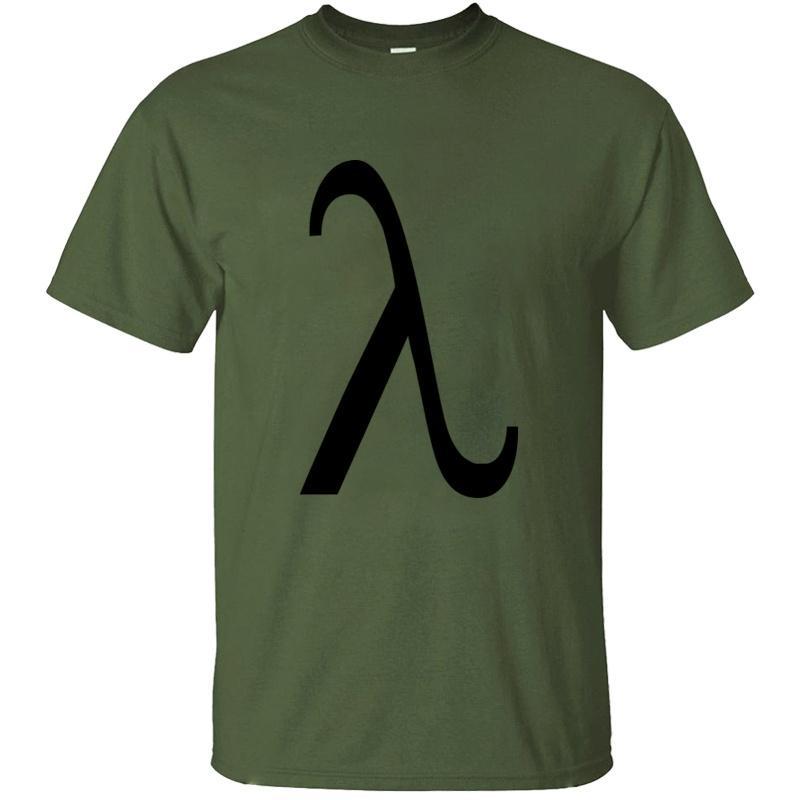Erkek Hipster Ünlü Mürettebat Boyun Gents Komik Kız Erkek Tişörtleri Artı boyutu S-5XL Tee Shirt için sloganı Lambda T Shirt oluştur