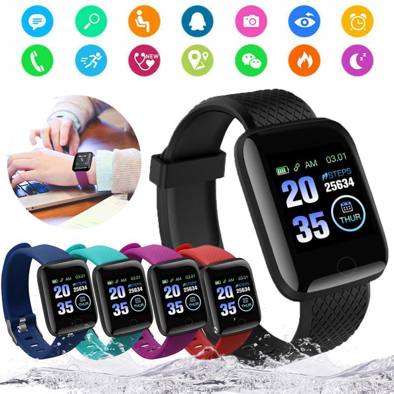 116 Fitness Smart Band Smartband Plus Rate Watch Wristband Sport Fitness Tracker Blood IP67 Pressure Waterproof Heart Monitor Kavir