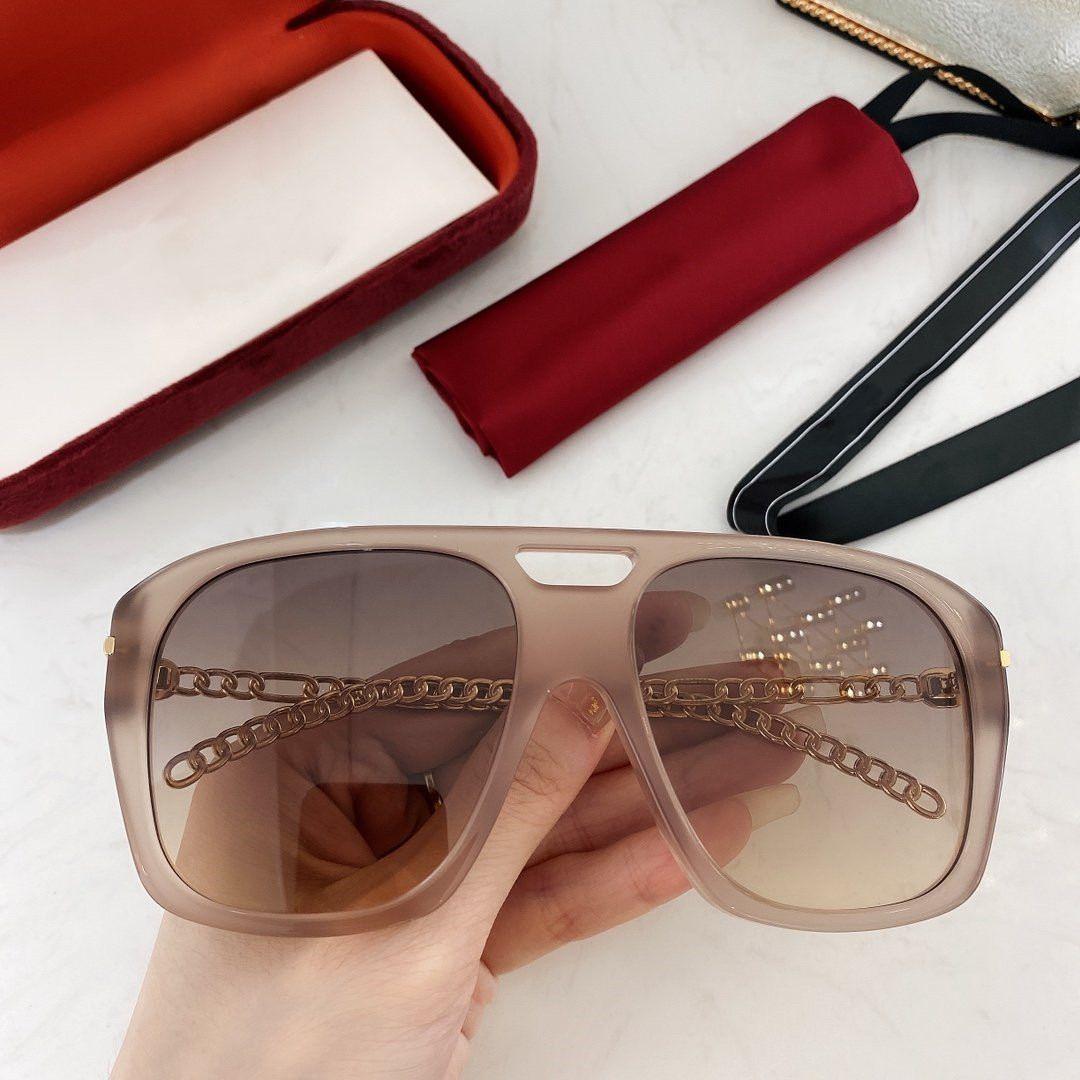 2020 الأزياء مربع جديد نظارات إطار نظارات الاستقطاب في الهواء الطلق عالية الدقة عالية الجودة نظارات UV400 افضل نوعية مع GG0723S مربع