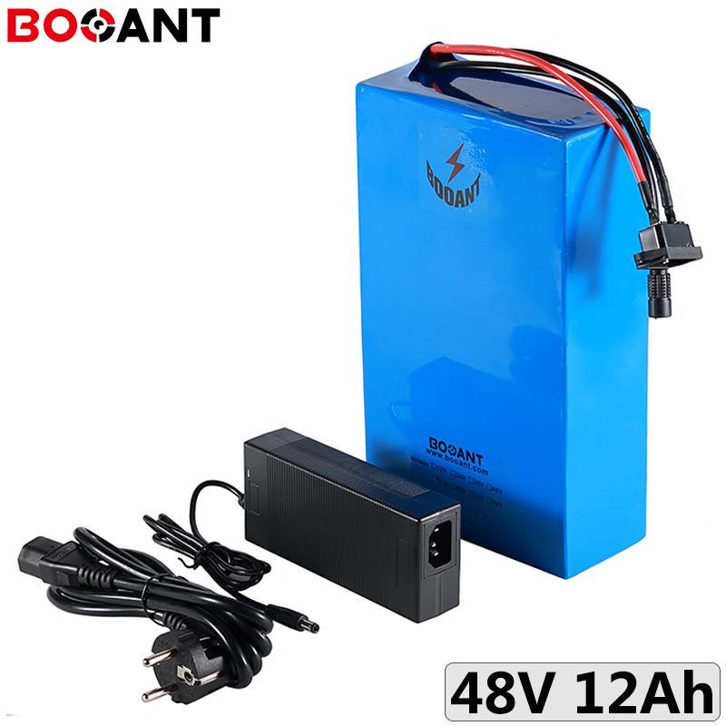 Batterie rechargeable au lithium-ion 48V 12Ah 750W de vélo électrique 18650 13S 250W 500W pack ebike avec 2A Chargeur