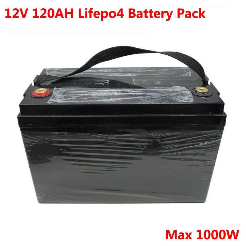 1000W 12V 120Ah Lifepo4 batterie pour le moteur de chariot de golf du panneau de stockage solaire UPS caravane chargeur 14.6V 10A