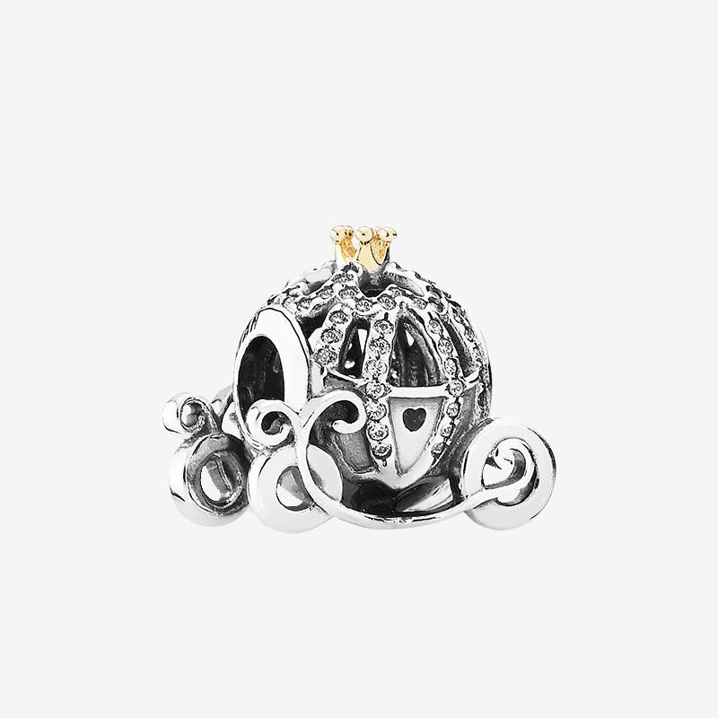 أصيلة 925 الفضة الاسترليني سحر مجوهرات اكسسوارات مع المربع الأصلي ل باندورا اليقطين سيارة الخرز سوار diy سحر