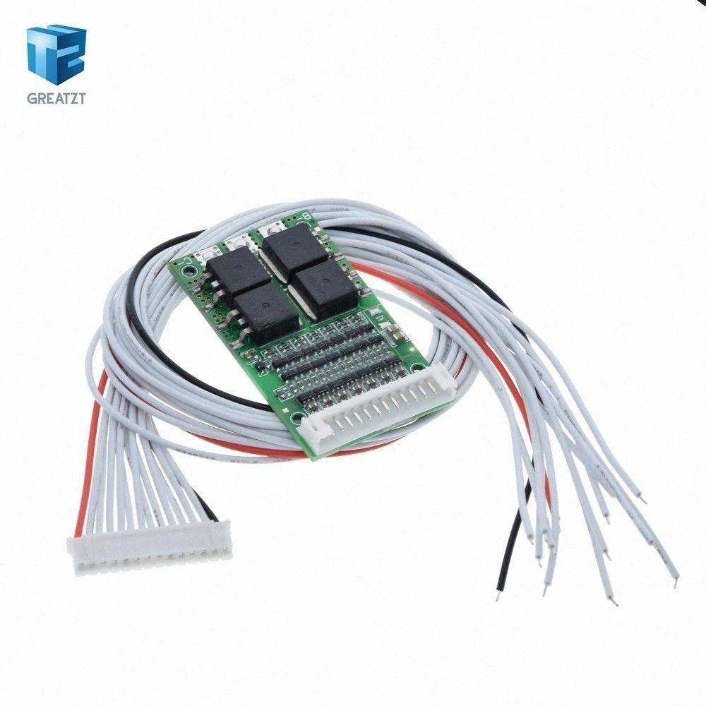 BMS 6S 7S 8S 9S 10S 11S 12S 13S 3.6V 4.2V 25A قابل للتعديل BMS ليثيوم أيون ليثيوم 18650 نظام حماية البطارية مجلس الوحدة الكلور PCM QYWe #