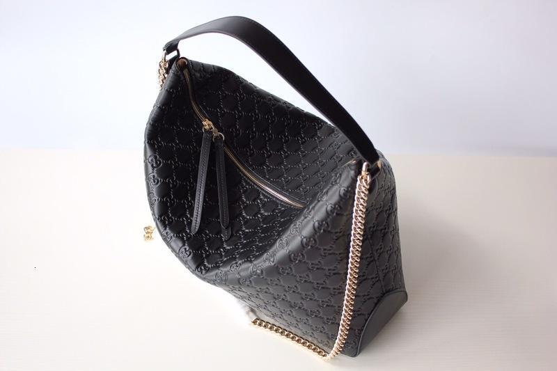 2019 en iyi siyah gerçek deri kadın mesajı çanta klasik mektup çanta omuz çantaları M477324 İYİ FİYAT Kargo Ücretsiz