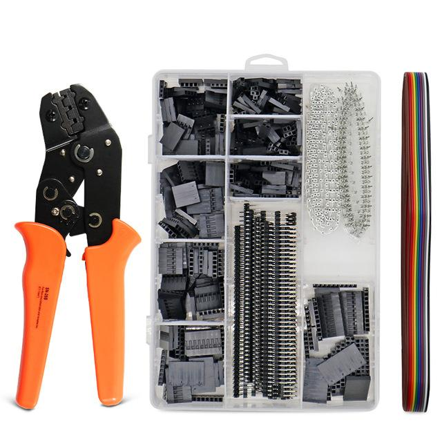 Pliers 1550Pcs dupont crimping tool plier terminal crimper wire JST hand tool set Multifunctional tools for electrical cable SN-28B