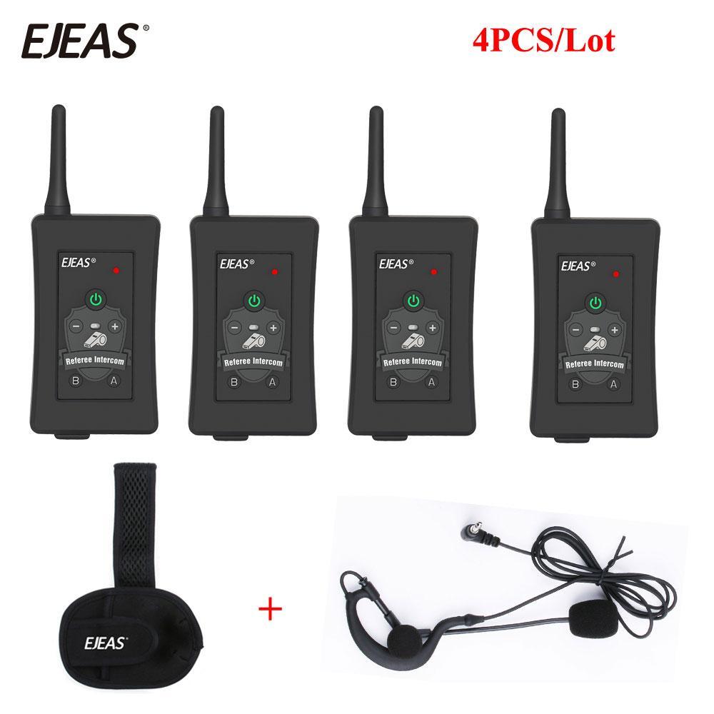 Walkie Talkie Neueste Fußballschiedsrichter Intercom Headset VNETPHONE FBim 1200m Wireless Full Duplex Bluetooth Interphone mit FM 800mAh