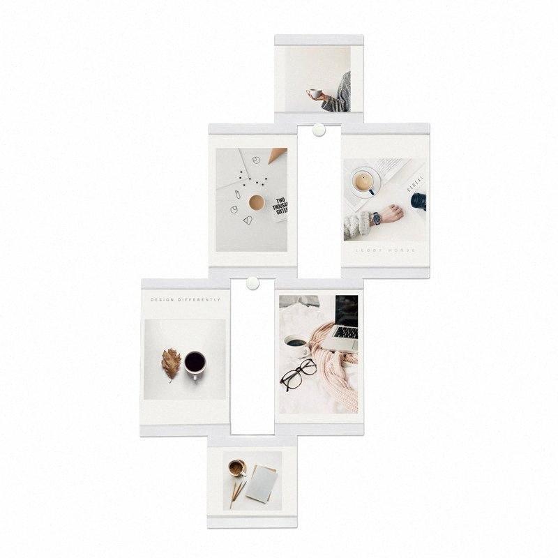 Multi-frame Cadres Blanc Cadres photo Home Décor transparent Collage multifonctions photo Set Avec aspiration Cube 6mK9 #