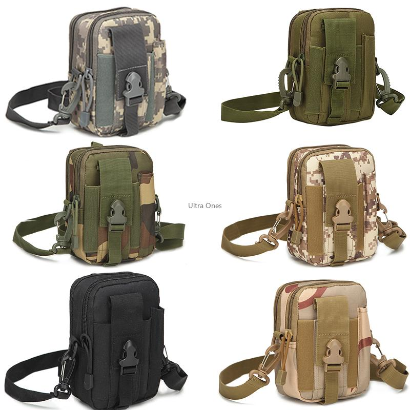 Tactical Phone Pouch with Shoulder Strap Molle Hiking Paintball Hunting Camping Waist Bag for 5.5 Inch Phone