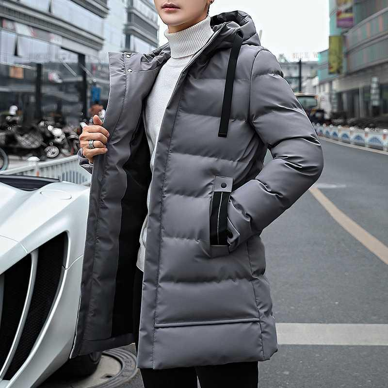 Lungo Stile Parka di inverno degli uomini del rivestimento del cappotto di uomini incappucciati Thick Cotton-Padded Jacket Mens Parka cappotto di modo maschio casuale cappotti 4XL