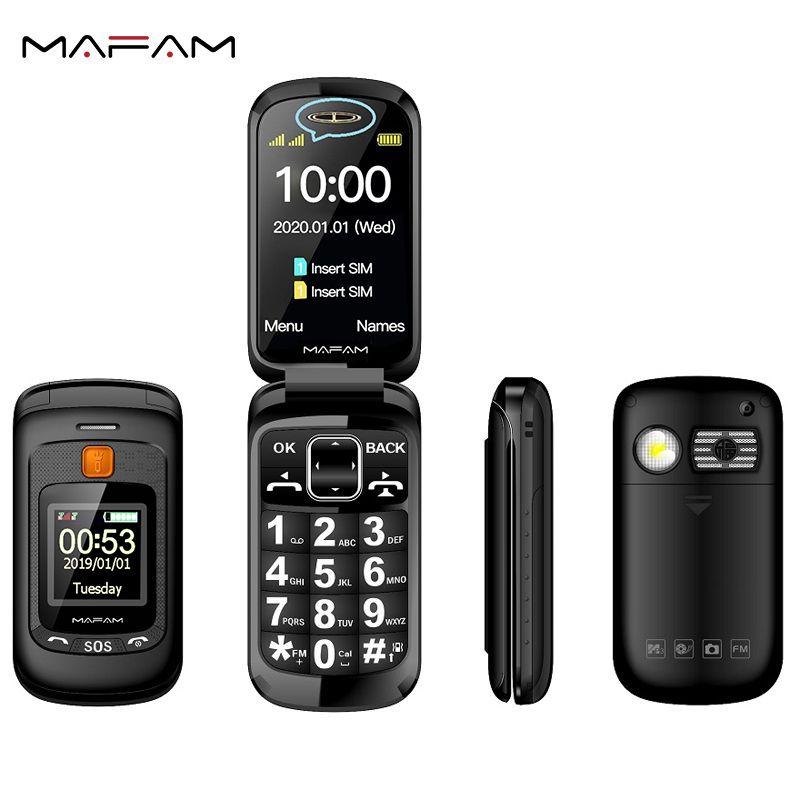 Флип Double Dual Screen Dual SIM-карты мобильного телефона SOS ключ быстрого набора Сенсорный почерка Большая клавиатура FM Старший Cellphone для пожилых людей