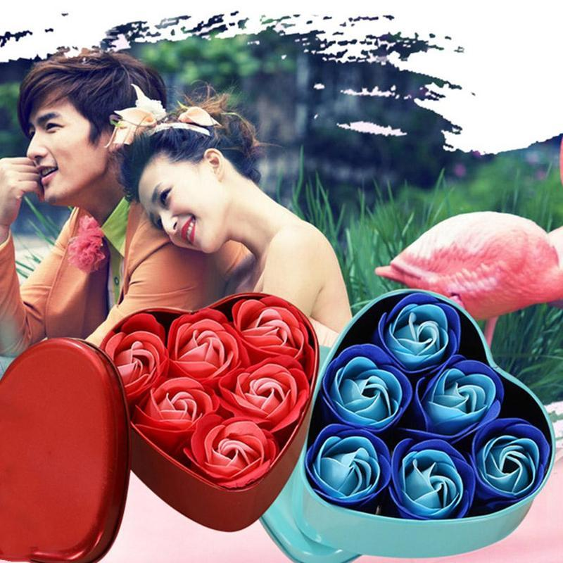 Покровительство подарков украшения партии Лучший сердца Ароматические ванны тела Лепесток цветок розы Мыло Валентина