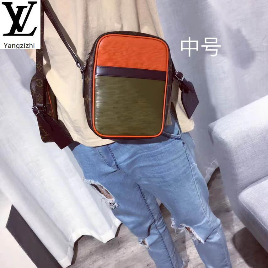 Yangzizhi New Old Flower Fight Army Green Orange Red Medium Crossbody Bag Handbags Bags Top Handles Shoulder Bags Totes Evening Cross Body
