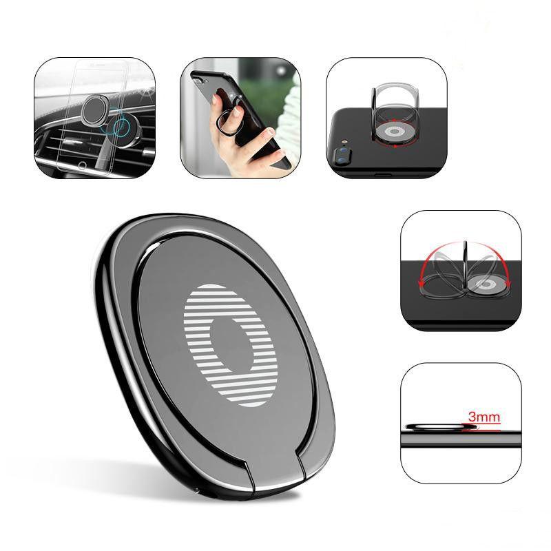 جديد فاخر 360 درجة معدن البنصر حامل الهاتف الذكي الهاتف فنجر حامل حامل لفون 7 6 سامسونج اللوحي مع حزمة MQ200