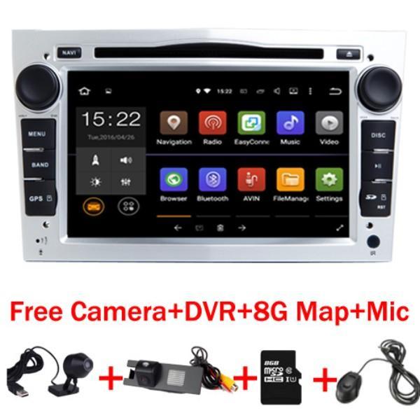 "7"" HD 1024X600 Android 7.1 Car DVD GPS Navigation for Opel Astra Vectra Antara Zafira Wifi 3G BT Radio USB SD Free Camera+DVR"