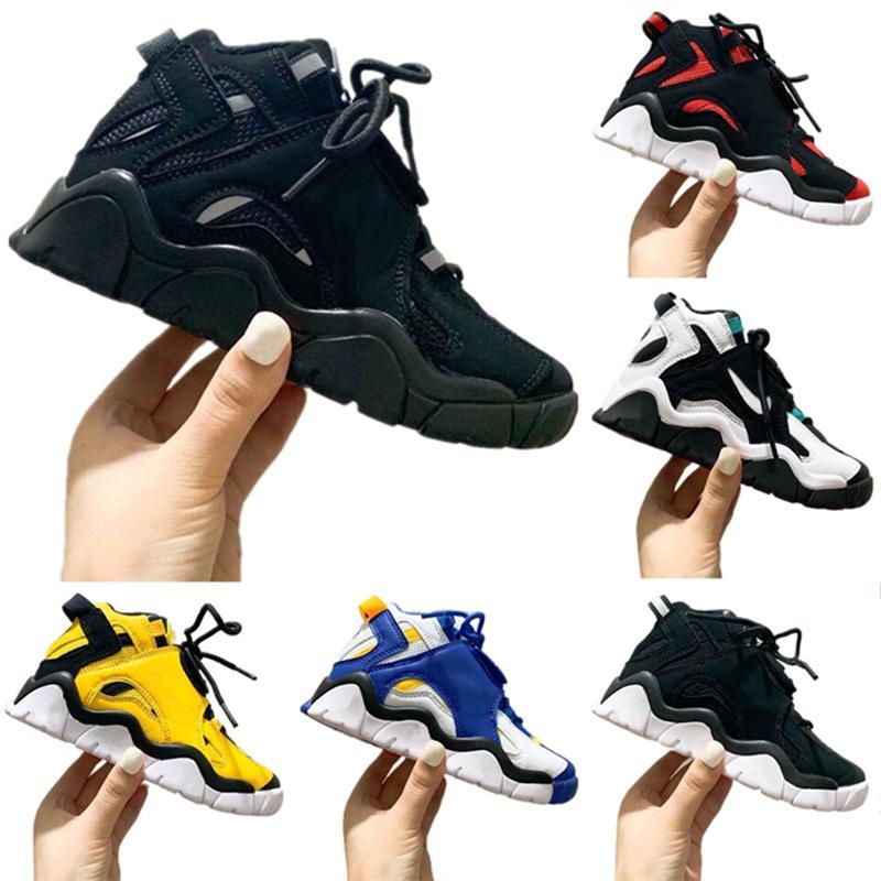 Kinder neue Scottie Pippen Basketball-Schuh-Hyper Grape Lila Raptors Schwarz Gelb Kinder Herrenschuhe Designer-Turnschuhe